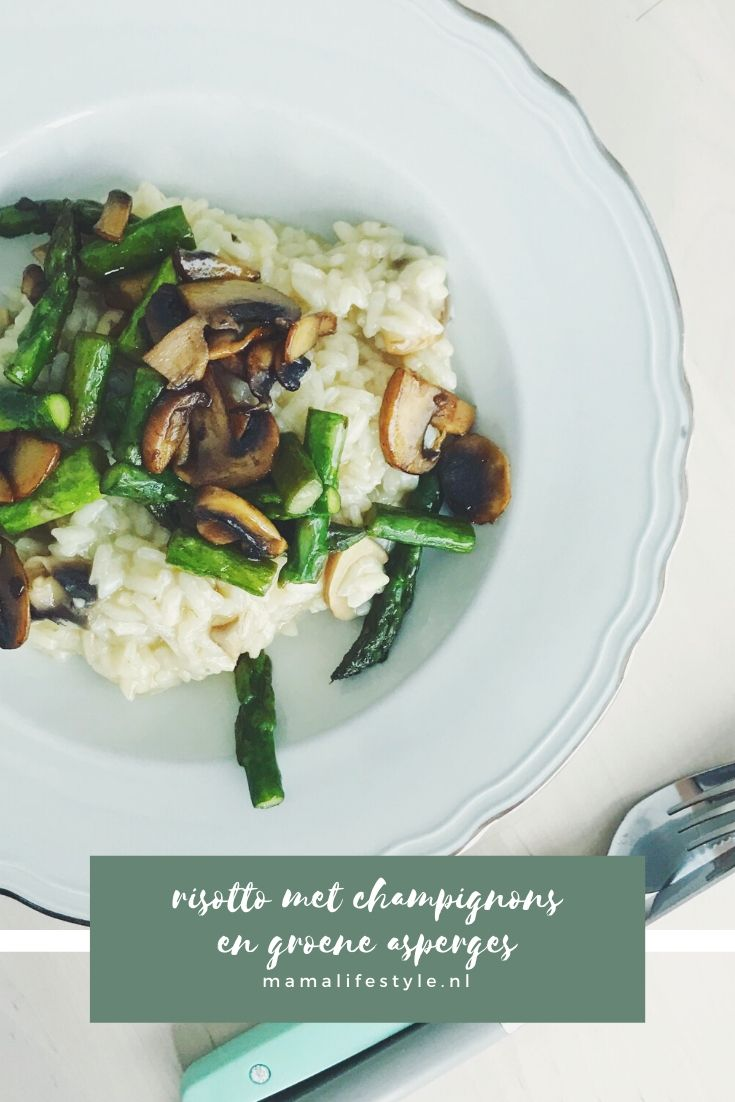 Pinterest - risotto champignons groene asperges