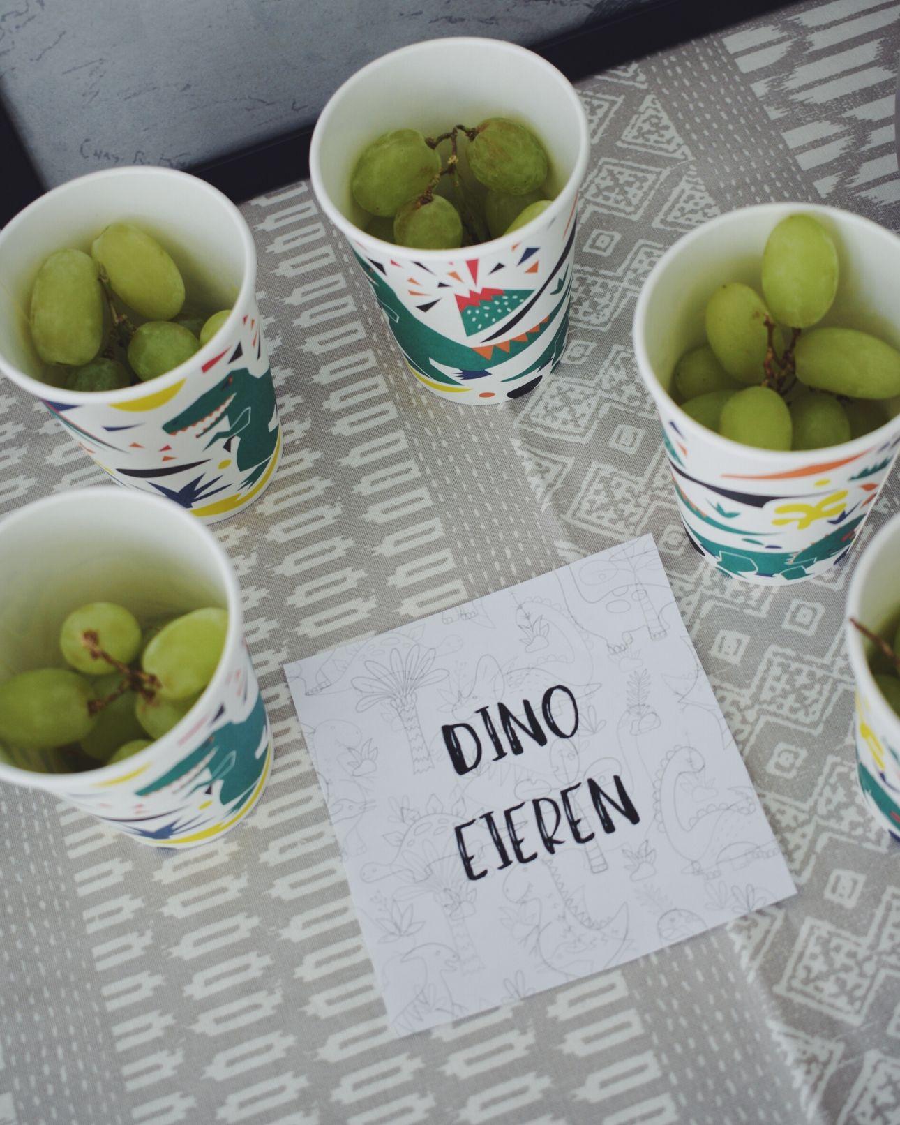 Dino feest dino eieren druiven