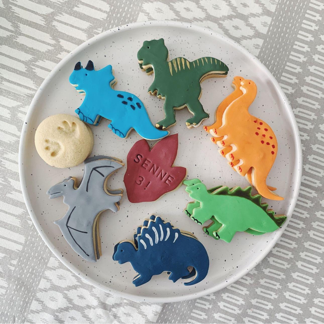 Dino feest dino koekjes