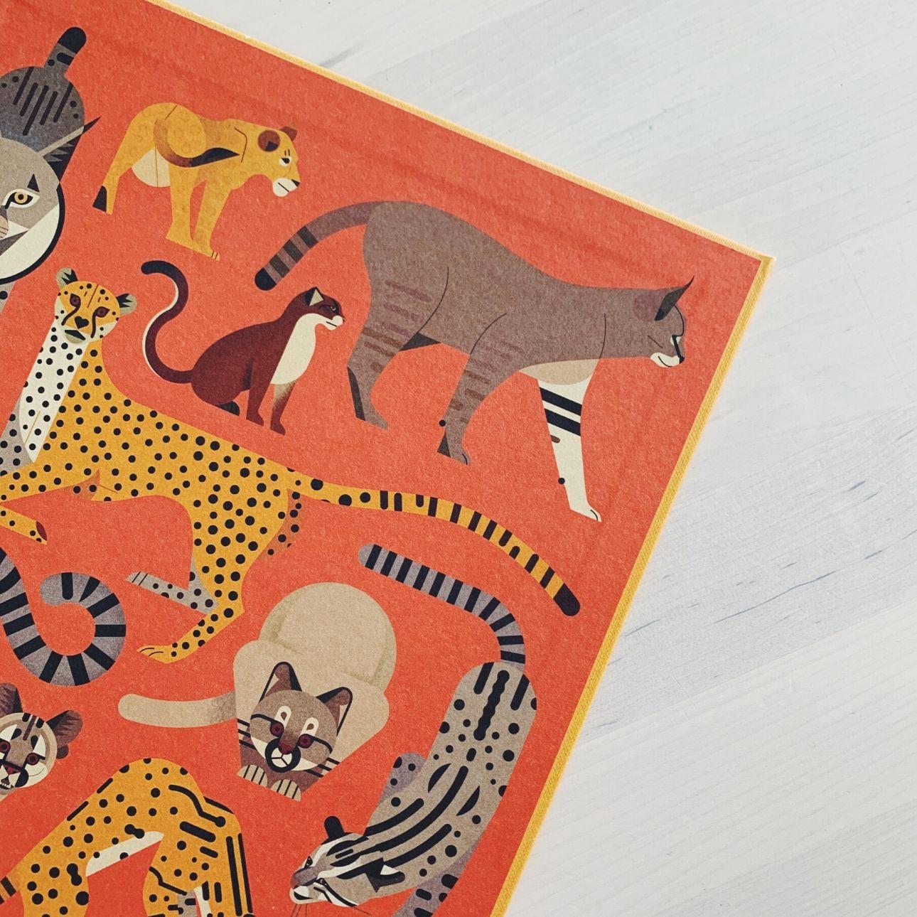 Owen Davey kinderboek wild van katten