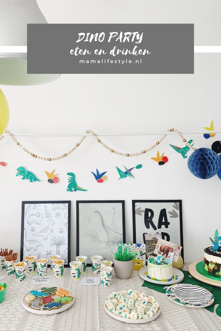 Pinterest - dino party eten en drinken