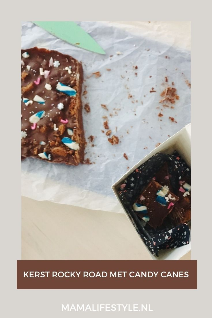 Pinterest - kerst rocky road met candy canes