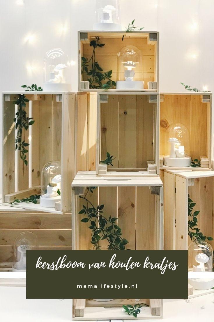 Pinterest - kerstboom van houten kratjes