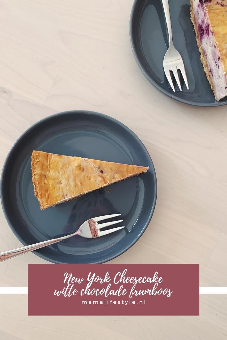 Pinterest - new york cheesecake witte chocolade framboos