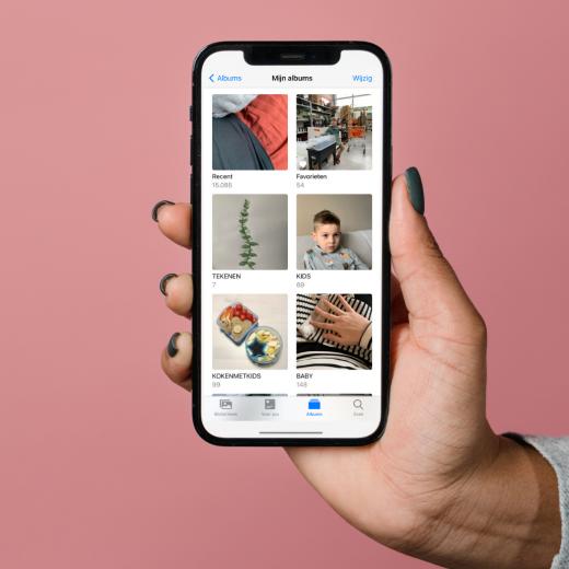 sw iphone foto overzicht album tips